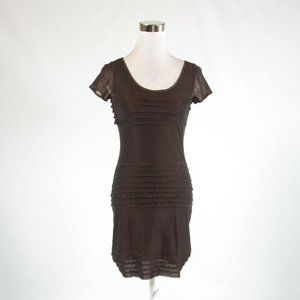 Brown ANDREW MARC tiered dress 0